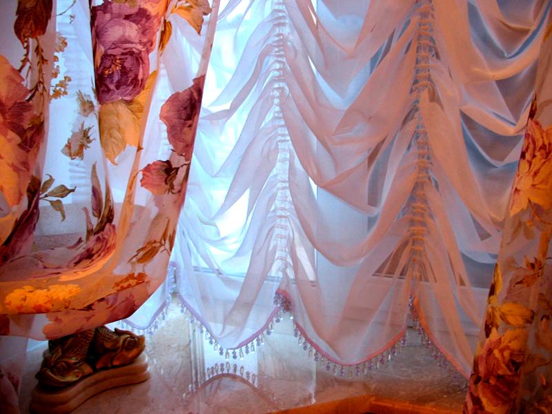 французские шторы с ламбрекеном